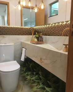 Bathroom Niche: Learn How To Choose And See Ideas With Photos - Home Fashion Trend Interior Exterior, Room Interior, Interior Design Living Room, Bathroom Niche, Brown Bathroom, Bathroom Ideas, Lavabo Design, Interior Design Career, Modern Bathrooms