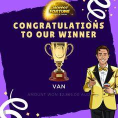 Be Our jackpot Winner! Online Gambling, Best Online Casino, Bingo Casino, Jackpot Winners, Casino Promotion, Big News, Best Games, Congratulations, Van