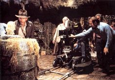 Filming the opening scene for RAIDERS OF THE LOST ARK (1981).