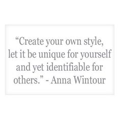 The brilliant Anna Wintour