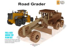 Road Grader Plan by AobiToyPlans on Etsy