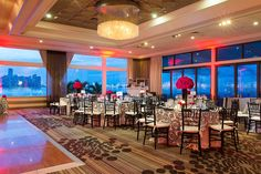 An Elegant Wedding at The Rusty Pelican. Reception Details. Table Settings
