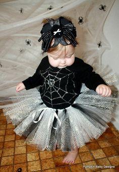 Spider Web Tutu Set by pumpkinbabydesigns on Etsy, $45.00