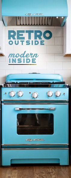 Retro appliances with modern appeal. Big Chill retro fridges, stoves and dishwashers come in eight vibrant colorsand more than 200 custom shades. Click to discover more today! #Retro #BigChill