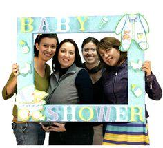 Mega Marco para Baby Shower / Fotos / Idea original / photobooth Baby Shower Photo Booth, Baby Shower Deco, Shower Bebe, Shower Party, Baby Shower Games, Baby Shower Parties, Baby Boy Shower, Shower Gifts, Bridal Shower