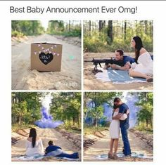 Baby gender reveal using chalk and tannerite.