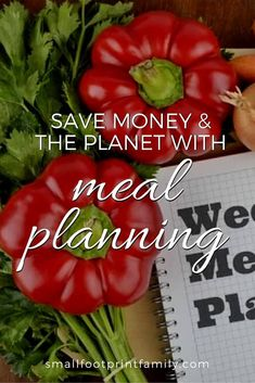 """We landfill about 40% of all the food we produce, where it produces 20% of all human-caused methane emissions. Meal planning is the single-most powerful thing you can do to save money, stop food waste and reduce your ecological """"food-print.""""  #greenliving #greenparenting #ecofriendly #sustainability #gogreen #stopfoodwaste #paleo #paleodiet #glutenfree #dairyfree #AIP #vegetarian #keto #recipe #whole30 #realfood #mealplans"""