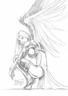 Angel Warrior Tattoos angel warrior on pinterest guardian angels ...