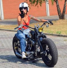 (notitle) - Biker - bmw yamaha for women gear girl harley tattoo Bobber Bikes, Bobber Motorcycle, Harley Bobber, Bobber Chopper, Biker Girl, Lady Biker, Motard Sexy, Foto Picture, Chicks On Bikes