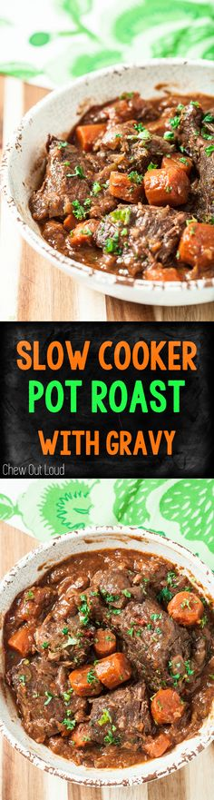 This Slow Cooker Pot Roast with Gravy is what comfort food is all about. Hearty, warm, and full of savory goodness in every bite.