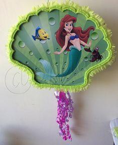 Piñata de Sirenita #fiestastematicas #cumpleaños #5petalos #sirenita