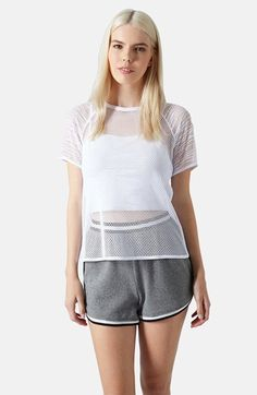 Free shipping and returns on Topshop Mesh Tee at Nordstrom.com. Ladder-stitched sleeves flank an airy mesh tee that floats atop a trend-right cropped layer.