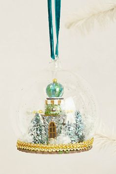 Castle Globe Decoration Most beautiful thing! Merry Little Christmas, Christmas Time, Christmas Crafts, Christmas Decorations, Xmas, Christmas Ornaments, Holiday, Christmas Ideas, Anthropologie