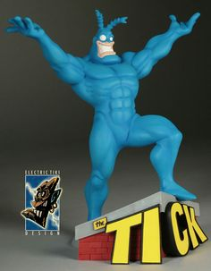 Statue of The Tick Best Cartoons Ever, Cool Cartoons, Toy Corner, Sculpture Painting, Poster Pictures, Vinyl Toys, Character Illustration, Cartoon Characters, Action Figures