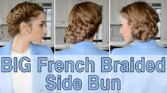 BIG French Braided Side Bun by Fancy Hair. See the video tutorial here: http://youtu.be/RyCLw_ByAEE. For more info on Fancy Hair, visit: http://www.GetFancyHair.com #longhair #longhairstyles #hair #hairstyles #celebrityhair #wedding #weddinghair #bridal #bridalhair #bride #fancyhair #chignon #wavyhair #curlyhair #straighthair #blondehair #brownhair #redhair #style #fashion #celebritystyle #celebrityfashion #bun #haircare #fishtail  #braid #updo