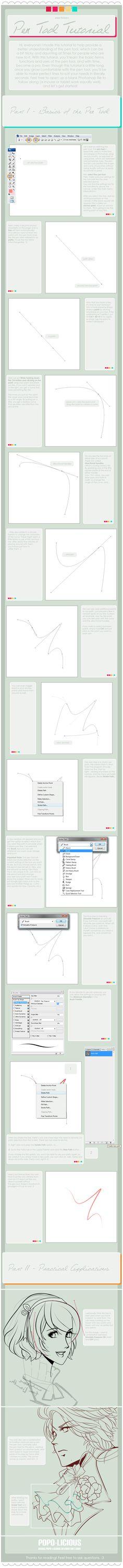 Pen Tool Tutorial by =Popo-Licious on deviantART