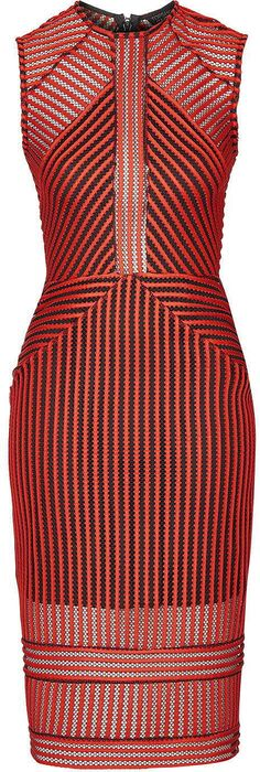 de811b836e63 Womens poppy airtex stripe midi dress - red