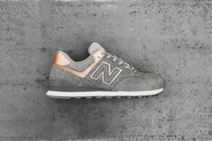 New Balance Women's 574 Precious Metal pack now includes this silver sneaker. The synthetic leather upper will sparkle from every angle! Shop today.