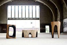 Burnt Wooden Furniture : Kaspar Hamacher Ausgebrannt