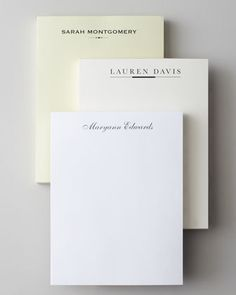 Personalized Notepads at Horchow.