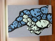 new small canvas. with grey areas suggested and later painted by Shuby :)