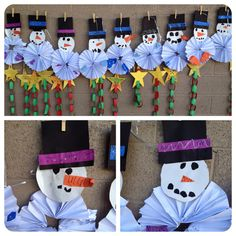 Snowmen...could also use the same technique to make penguins