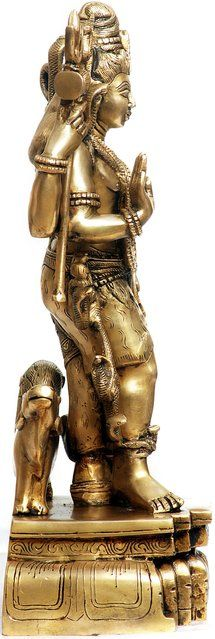 Ardhanarishvara Tiger Skin, Brass Statues, God Pictures, Deities, Two By Two, Sculptures, Spirituality, Lord, Collection