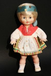 Salvo nukk, a doll in national costume 1970-ies