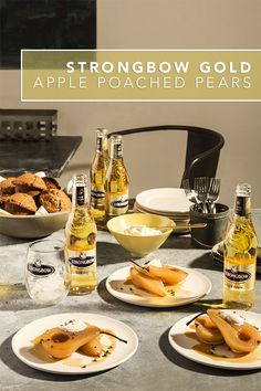 Wow your guests with this super easy and tasty poached pears recipe made with Strongbow Gold Apple Hard Cider. This gluten free recipe is just what you need to host the perfect brunch during a Sunday Funday. Serve it with a dollop of fresh homemade whipped cream and a crisp Strongbow Gold Apple over ice.