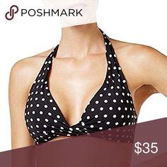 Lauren Ralph Lauren Women's Polka-Dot Bikini Top Lauren Ralph Lauren Women's Polka-Dot Bikini Top Size 12 Product Features: V-neckline with twist detail between bust. Non-removable soft cups. Allover polka-dot pattern. Nylon/elastane. Lauren Ralph Lauren Swim Bikinis