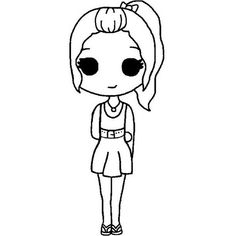 chibi template chibi template shared by DaddyPls on We Heart It Chibi Girl Drawings, Bff Drawings, Cute Kawaii Drawings, Cartoon Drawings, Easy Drawings, Drawing Sketches, Easy People Drawings, Drawing People, Simpsons Drawings
