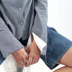 chemise-blanc-bleu-classique-mode