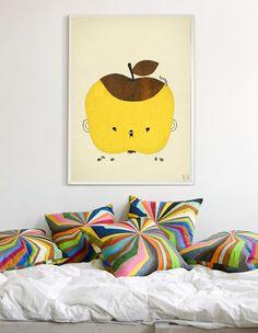 Deze vrolijke poster is ontworpen door de Zweedse Elisabeth Dunker.