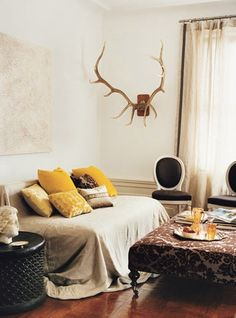 Antlers and pillows