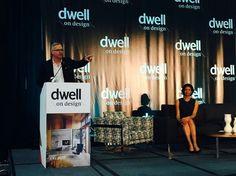ASID President Randy Fiser introduces Robin Wilson at DWELL 2015 #dodla @rwhome #robinwilsonhome #asid