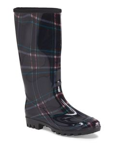 Plaid Jelly Rain Boot