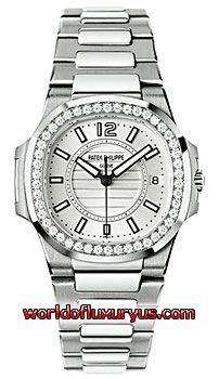 7010/1G-001 - This Patek Philippe Nautilus Womens Watch, 7010/1G-001 features 32 mm 18k White Gold set with Diamonds case, Silvery white dial, Sapphire crystal, Fixed bezel, and a 18k White Gold bracelet. Patek Philippe Nautilus Womens Watch, 7010/1G-001 also features Swiss Quartz Movement, Analog display, Date at 3 o'clock. - See more at: http://www.worldofluxuryus.com/watches/Patek-Philippe/Nautilus/7010/1G-001/46_58_7940.php#sthash.jaMhe227.dpuf