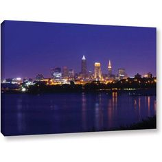 Cody York Cleveland 18 inch Gallery-Wrapped Canvas, Size: 32 x 48, Brown