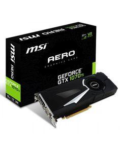 Geforce GTX 1070TI Aero 8GB Nvidia GDDR5 1x HDMI 3x DP 1x DL DVI D #MSI Custom Pc, Computer, Ebay, Cards, Mode Normal, Slot, Gaming, Retail, Free