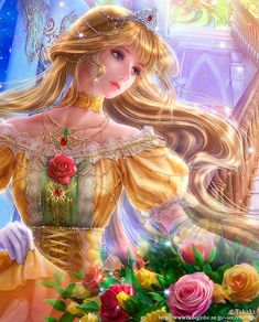 ideas for wallpaper anime girs artists Fantasy Girl, Fantasy Princess, Beautiful Fantasy Art, Beautiful Anime Girl, Disney Kunst, Disney Art, Fantasy Kunst, Cross Paintings, Fairy Art