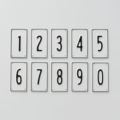 Black + White Number Signs
