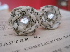 Ch.5  Vintage Paper Earrings  Discover the by VintageOoakDesigns, $12.00