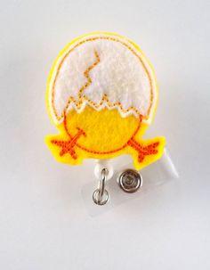Semana Santa eclosión pollito en huevo divisa por BadgeShack