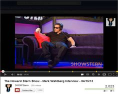 As Featured on Howard Stern Show!!-  Mark Wahlberg on  GARBO sofa !!