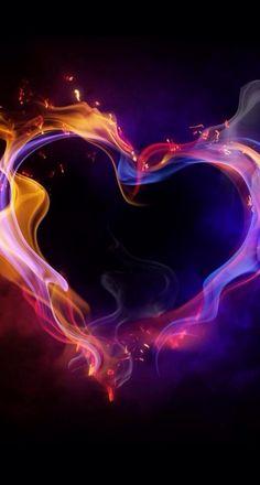 Fire Heart of Love Wallpaper Heart In Nature, Heart Art, Heart Canvas, Francisco Javier Rodriguez, 1366x768 Wallpaper, Art Beauté, Fotografia Macro, I Love Heart, Heart Flow