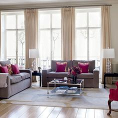 Flashes of pink living room | Living rooms | Decorating ideas | Image | Housetohome