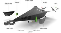 Carbon Flyer - the unbreakable personal drone , - , The Carbon Flyer... , #Bluetooth #carbonfiber #drone #smartphone