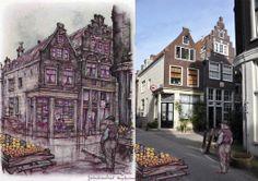Egelantiersstraat, Amsterdam Anton Pieck, Amsterdam Art, Painting, Kunst, Painting Art, Paintings, Drawings