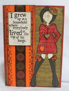 Cathy Gray uses Club Scrap's Homestead collection and die cut to create this stylin' girl with a bit of sass!