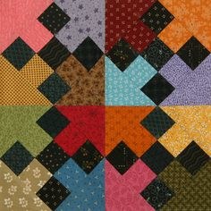 9-patch chain - scrappy block-Quilting Forum